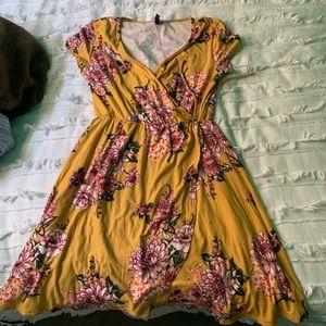 Yellow flowered dress